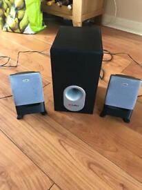 Labtec computer hifi speaker set