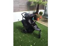 Phil & Teds Double Pram with sun visor and raincover