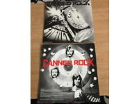Pair of signed vinyl LPs, Rock group Canned Rock 1970s