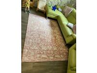Large pink rug from wayfair