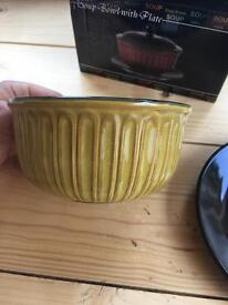 NEW!! Soup bowl with plate