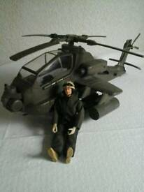 Hm forces heavy duty helicopter with pilot figure