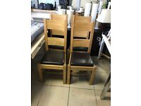 4 Solid oak Dinning Chairs - Great Condition