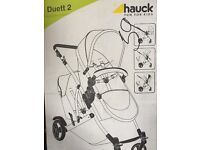 New! Hauck Duett 2 Pushchair