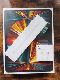 2021 Apple iPad Pro 12.9, M1 Processor, iOS, Wi-Fi, 256GB, SILVER