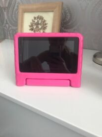 Amazon fore kindle with pink carry case
