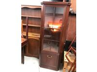 Mahogany corner display cabinet FREE DELIVERY PLYMOUTH AREA