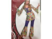 Hippy chick fancy dress costume 60s 70s ladies outfit