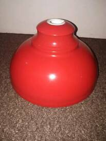 Red ceiling lamp shade