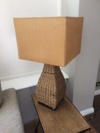 Unique large wicker lamp