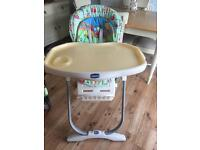 Chicco high chair can be used from birth to 3 years