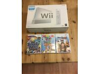 NINTENDO WII GAMES CONSOLE INCLUDING 3 GAMES