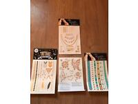 Beautiful metallic transfer tattoos - perfect for parties or festivals
