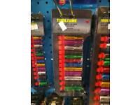 12pc 1/4 deep coloured sockets