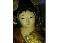 vintage bisque japanese geisha doll