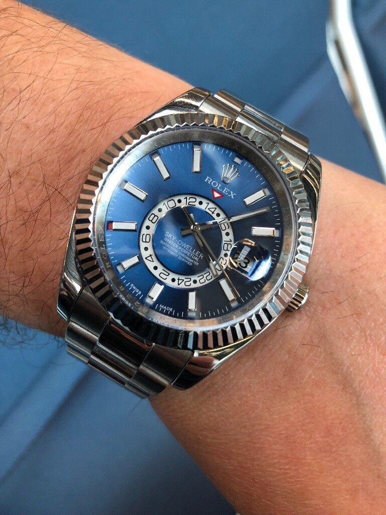Rolex Sky Dweller Stainless Steel Blue Dial In Blackburn