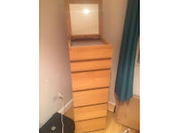 Brand New Ikea Drawers with mirror