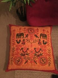 2 Large Cushions/ Floor Pillows