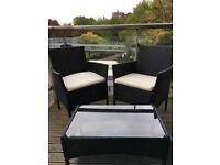 Rattan Balcony Sofa Set along with Glass Table