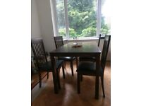 Dining Room table and 4 chairs, £200 when purchased