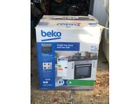 Beko Integrated Single Electric Fan Oven and Gas Hob
