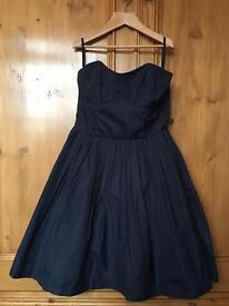 Jack Wills Strapless Navy Dress!! Bargain