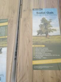 Solid oak flooring from Floormakers. 60 sqm available.