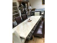 Stunning Tenore engineered marble dining table