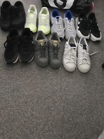 7 pairs Various Nike and adidas trainers size 6