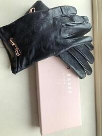 Ted Baker Navy Gloves