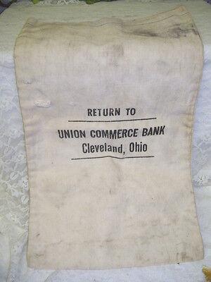 Vintage Bank Bag Union Commerce Bank Cleveland Oh