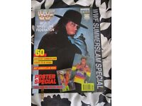 RARE WWE/ WWF WRESTLING SUPER STARS POSTER MAGAZINE UNDERTAKER 2 COVER HAVE OTHER MAGAZINES FOR SALE