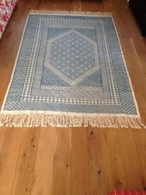"Large Hand Woven ""Kilim"" Tunisian Rug or Wall Hanging"