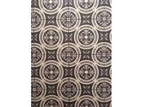 Ceramic tiles grey geometric circle pattern Moroccan style.