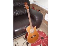 Takamine EF261S AN, electro acoustic guitar, with Takamine hard case