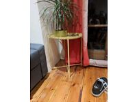 Side table, yellow