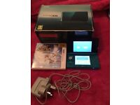 3DS blue and black and 1 game