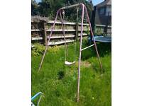 Kids pink metal swing excellent condition