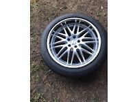 NEW 4 x audi a8 DEEP DISH alloy wheels and tyres GOODYEAR NEW 255 45 20 112 9.5J ET35 NEVER FITTED