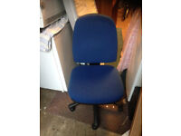 office blue chair swivel with wheel