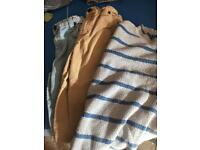 Boys mini Boden clothes age 7-8 /9-10 blue striped hoody and long shorts vgc