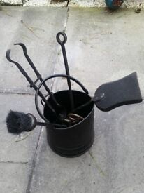 Fireside Companion Set with Coal Scuttle