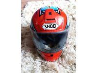 Shoei full face motorbike crash helmet