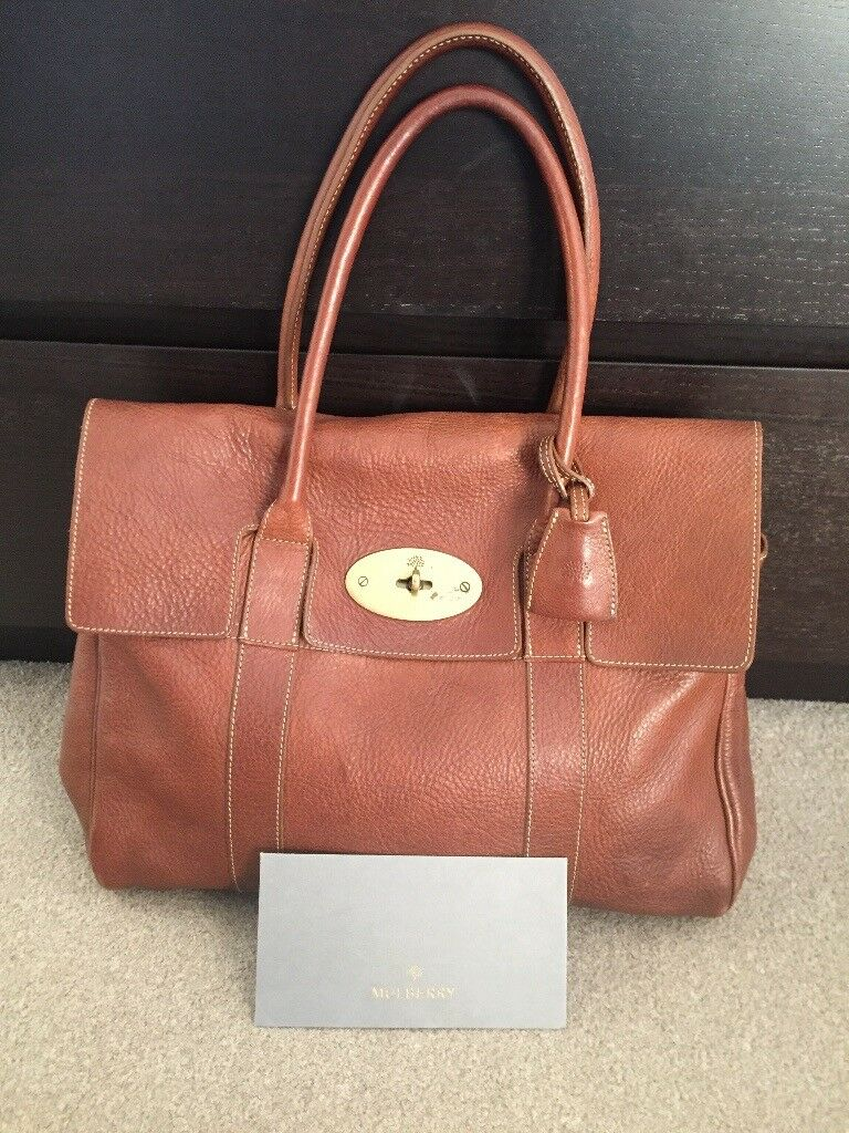 2f7302fda9 Mulberry Classic Leather Bayswater in Tan