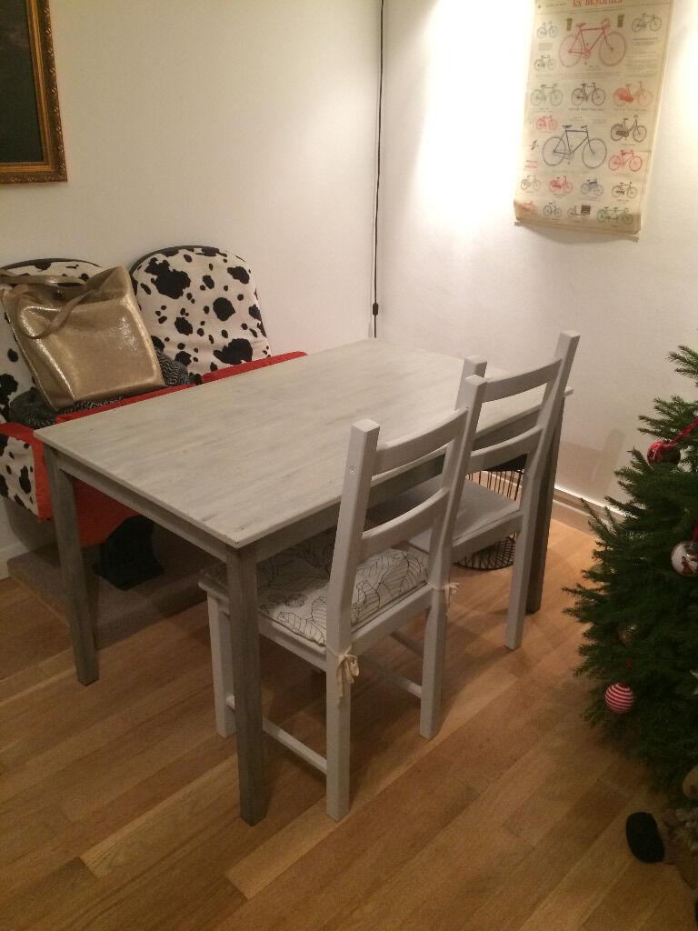 Dining table ikea ingo painted grey