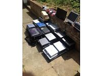 Joblot of spares or repairs laptops, bags headphones