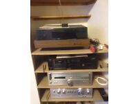 Record player, Amp and Tuner etc