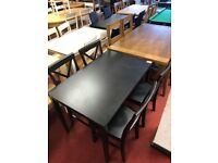 Jessie Dining table and 4 chairs - Black