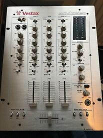 Vestax PCV275 DJ Mixer (3 phono inputs, 6 line inputs, 2 mic inputs, 3 primary channels)