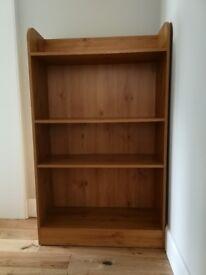 Wooden book case, 3 shelves, good condition